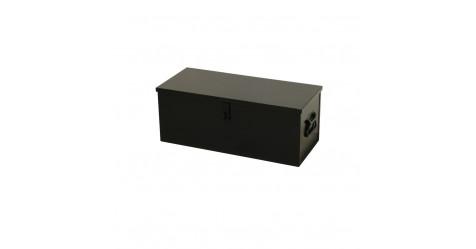 Opbergkist zwart staal 720 x 315 x 282 mm