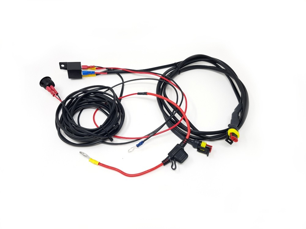 lazer lights - two-lamp harness kit with switch  long