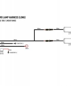 Lazer Lights - Two-lamp Harness Kit with Switch (Long)