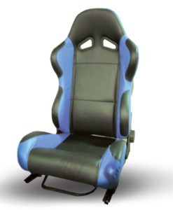 RACING SEAT BLACK-BLUE PVC LEATHER