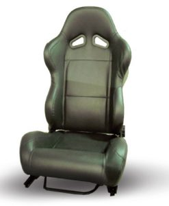 RACING SEAT BLACK PVC LEATHER