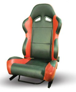 RACING SEAT BLACK-RED PVC LEATHER