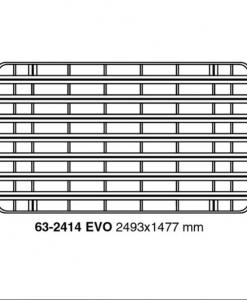Toyota Landcruiser 75 - 76 - 78 UPRACKS roofrack - dakrek 249 X 148 cm.