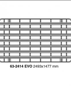 Mercedes G klasse 5 deurs UPRACKS roofrack - dakrek 249 X 148 cm.